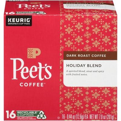 peetu0027s dark roast holiday blend keurig kcups 16ct
