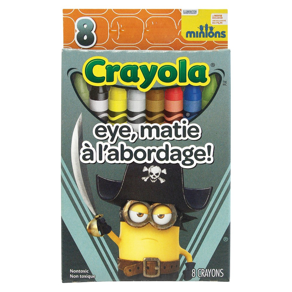 Crayola 8ct Minions Crayons - Eye, Matie, Multi-Colored