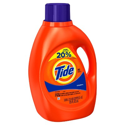 Tide Original Scent Liquid Laundry Detergent 125 oz