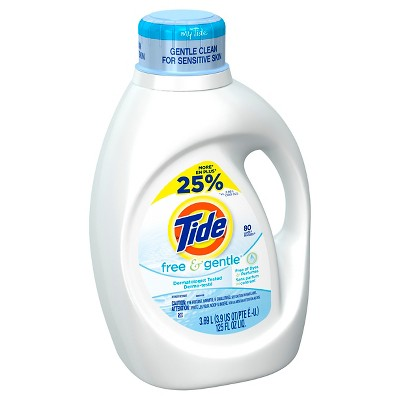 Tide Free & Gentle Liquid Laundry Detergent 125 oz