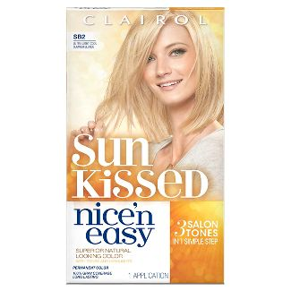 Clairol Nice n Easy Sun-Kissed Permanent Hair Color, SB2 Ultra Light Cool Summer Blonde, 1 Kit