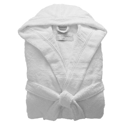 Kassatex Contempo Turkish Cotton Bath Robe - White