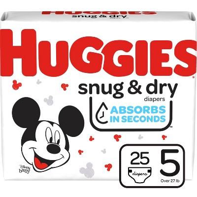 Huggies® Snug & Dry Diapers, Size 5, 25ct