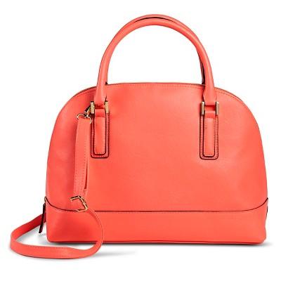 Women's Large Dome Satchel Faux Leather Handbag Pink - Merona™