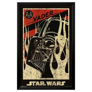 Art.com Star Wars Darth Vader Propaganda Movie Framed Poster, Black