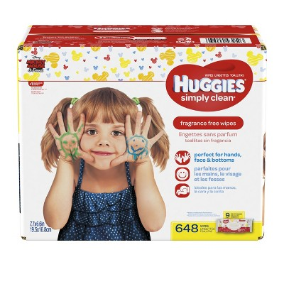 Huggies® Simply Clean® Baby Wipes, Soft Pack - 648 ct