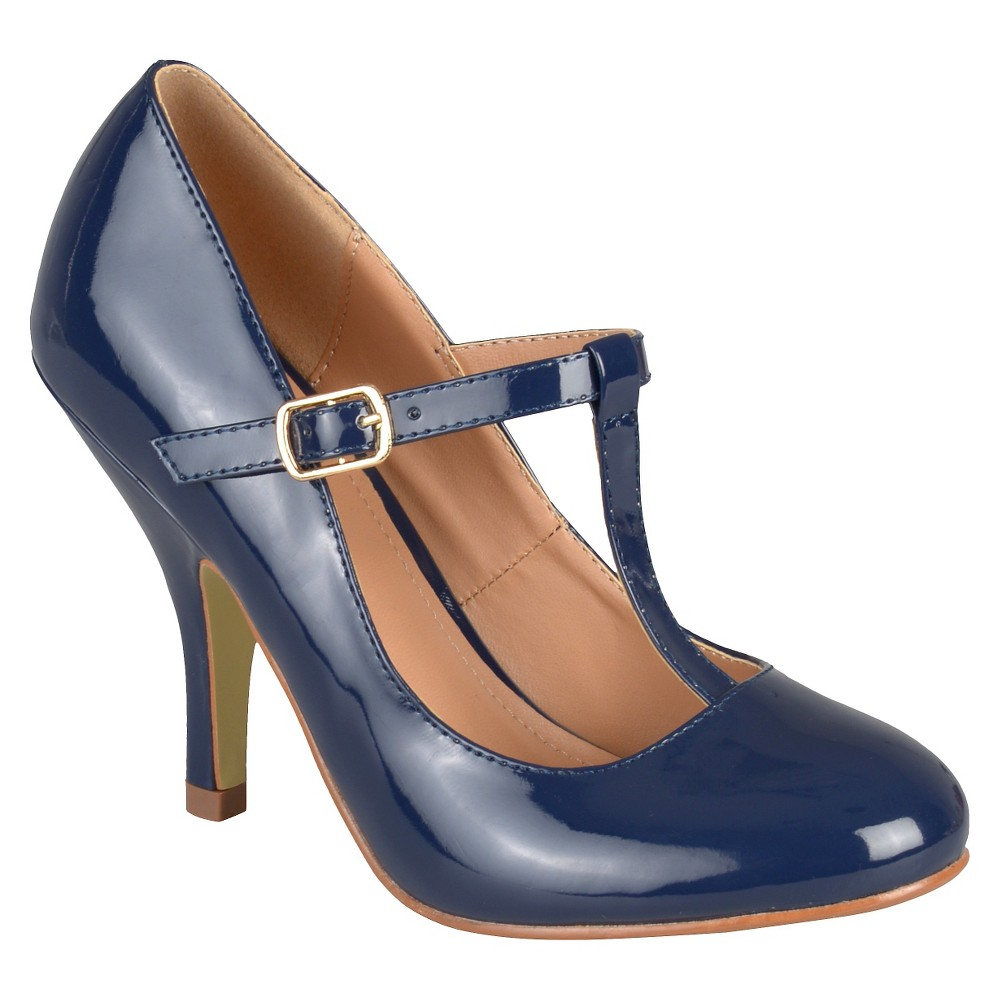 Womens Journee Collection Lessah T-Strap Pumps - Navy (Blue) 7.5