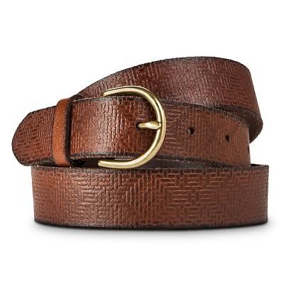 Women's Solid Belt with Gold Buckle Dark Brown S - Merona™