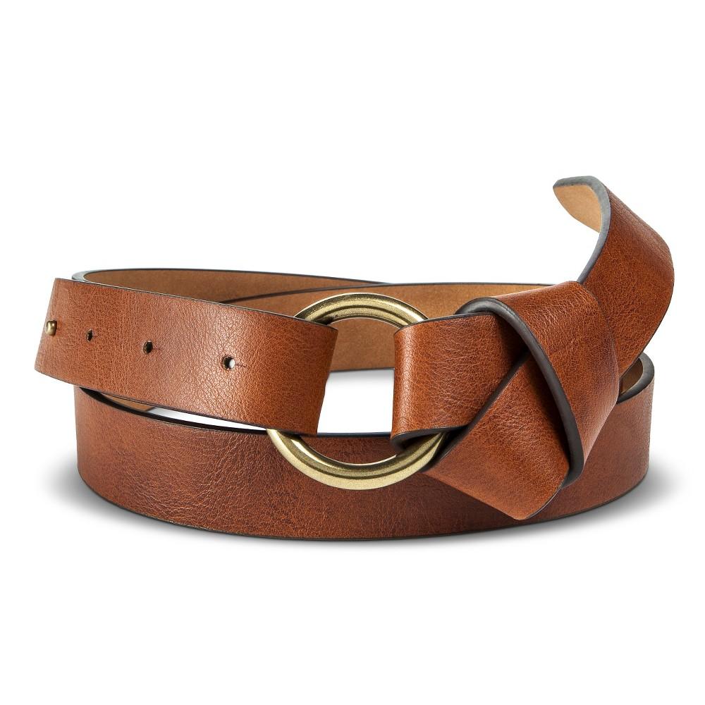 Womens Skinny Twist Belt Tan XL - Merona, Beige
