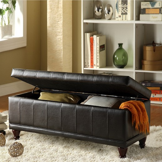 hartley tufted storage bench : target