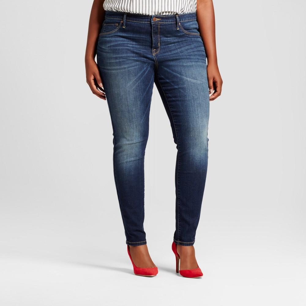Womens Plus Size Core Jeggings - Ava & Viv - Dark Blue 14W