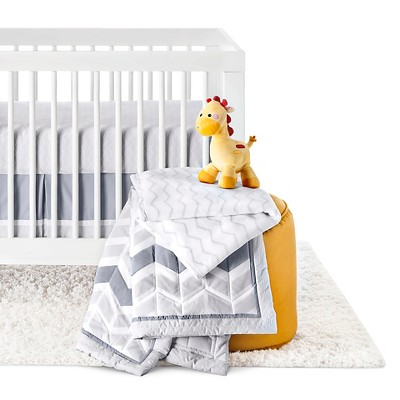 Circo™ 4pc Crib Bedding Set - Gray Chevron