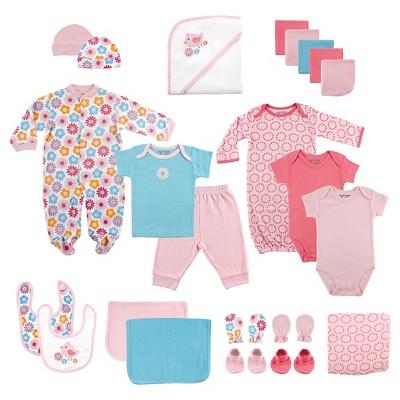 Luvable Friends Newborn 24 Piece Gift Cube Set Pink 6 M