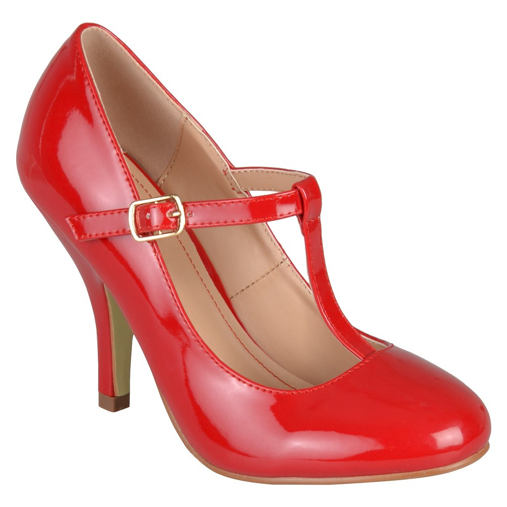 Womens Journee Collection Lessah T-Strap Pumps - Red 8.5
