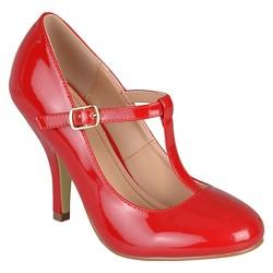 Women's Journee Collection Lessah T-Strap Pumps - Red 6