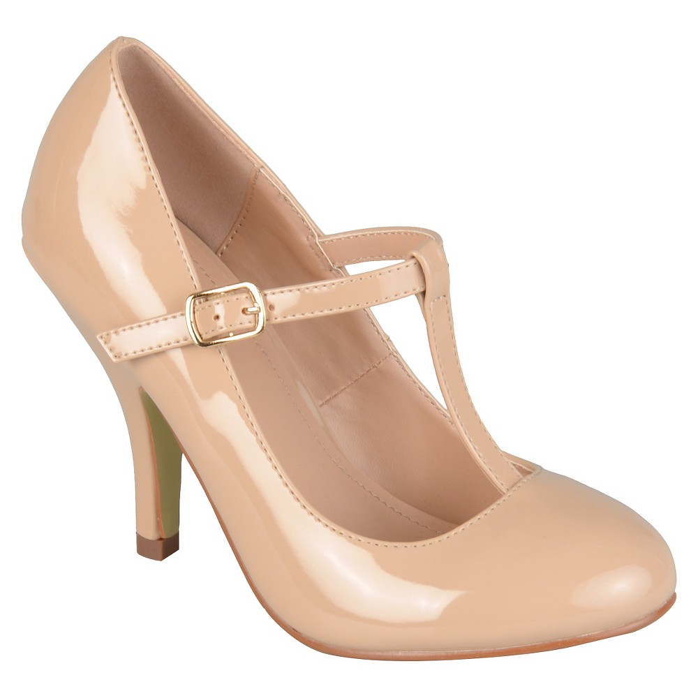 Womens Journee Collection Lessah T-Strap Pumps - Nude 7.5