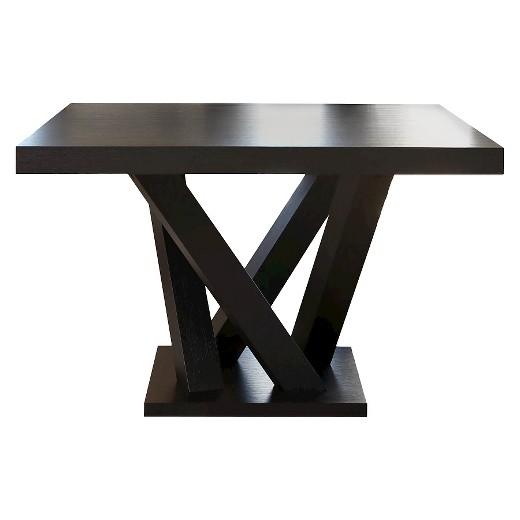 essex square dining table wood espresso abbyson living