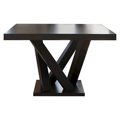 Beautiful Essex Square Dining Table Wood/Espresso   Abbyson Living