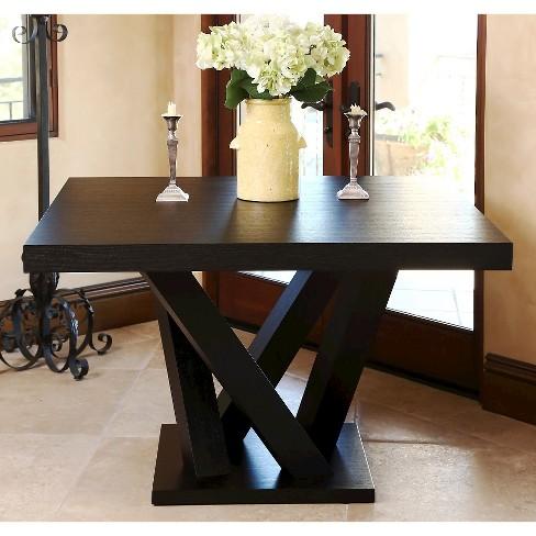 Essex Square Dining Table Wood Espresso
