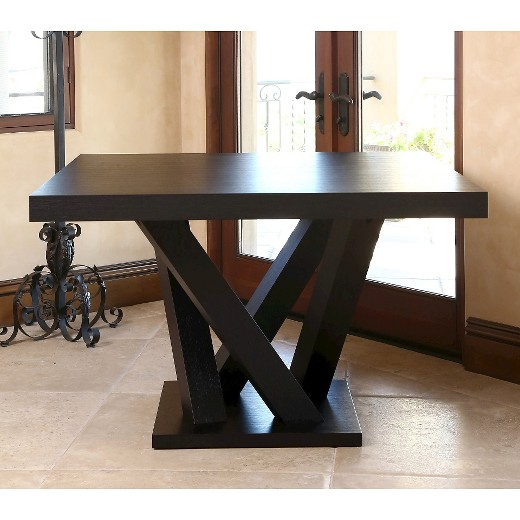 essex square dining table wood/espresso - abbyson living : target