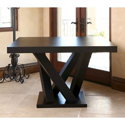 Essex Square Dining Table Wood/Espresso   Abbyson Living