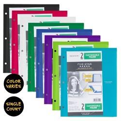 Five Star® Plastic Folder, 2 Pocket - Multicolor