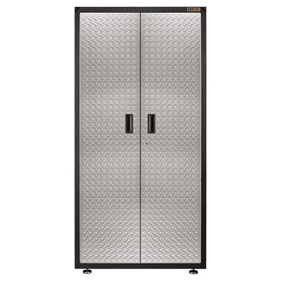 Gladiator Gearbox Garage Storage Cabinet - Hammered Granite With Silver Doors
