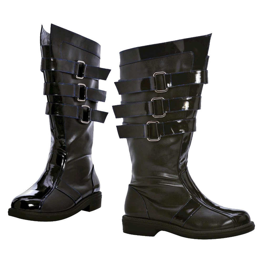 Mens Dark Lord Costume Boot - Size 8-9, Black