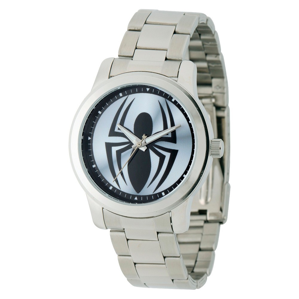 Mens Marvel Spider Casual Alloy Watch - Silver