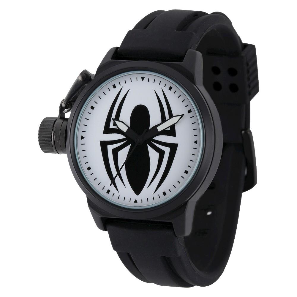 Mens Marvel Spider Crown Protector Watch - Black