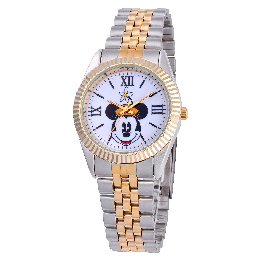 Mens Disney Minnie Mouse Status Watch - Silver, Multi-Colored