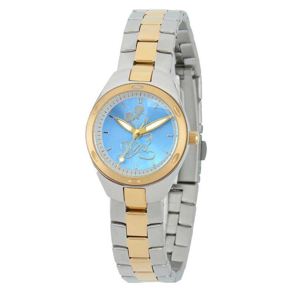 Womens Disney Mickey Mouse Fortaleza Stainless Steel Watch - Two-Tone, Silver