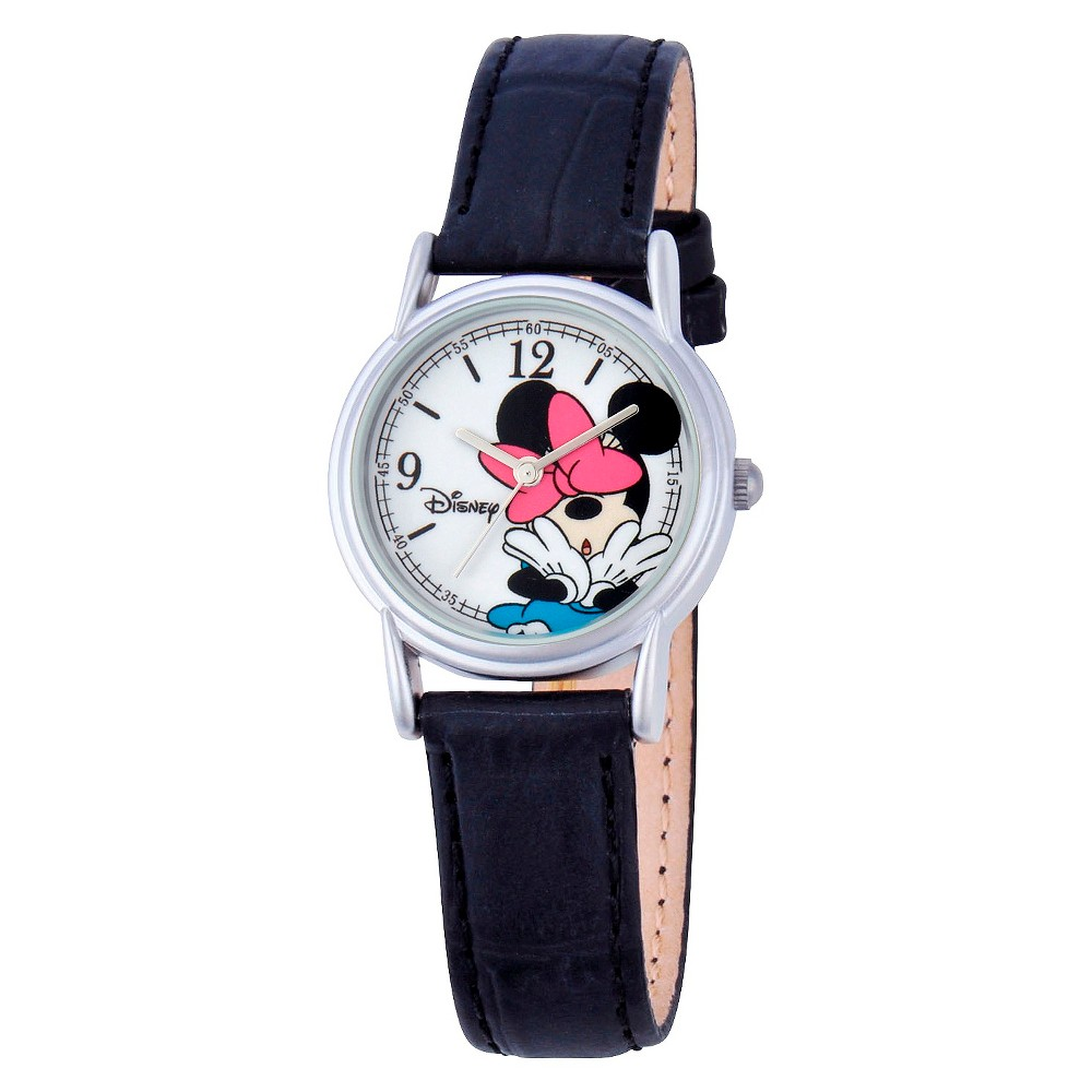 Womens Disney Minnie Mouse Cardiff Watch - Black, Size: Large