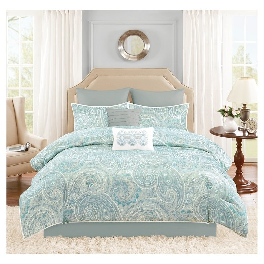 Kashmir 8 Piece Distressed Paisley Comforter Set