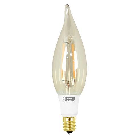 Feit 40-Watt Vintage Chandelier Candelabra Base LED Light Bulb ...