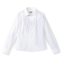 Girls' Long Sleeve Blouse White - Cherokee®