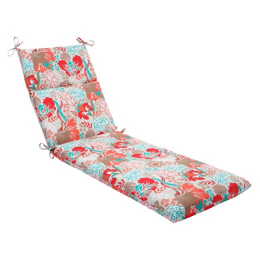 Pillow perfect suzanne outdoor chaise lounge cushion target for Chaise cushion clearance