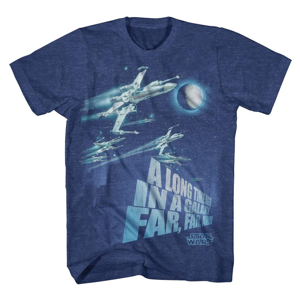 Mens Star Wars X-Wing T-Shirt - Navy XL, Blue