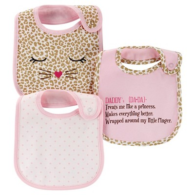Just One You™ Made by Carter's® Baby Girls' Quote 3pk Bib Set - Pink