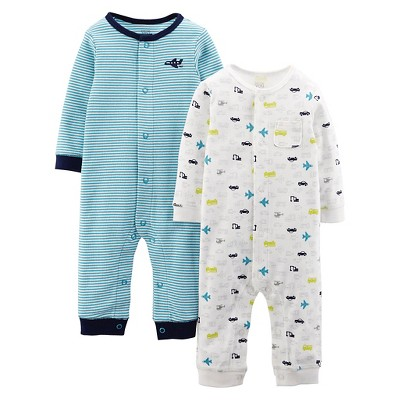 Just One You™ Made by Carter's® Baby Boys 2pk Stripe Jumpsuit - Blue 6 M