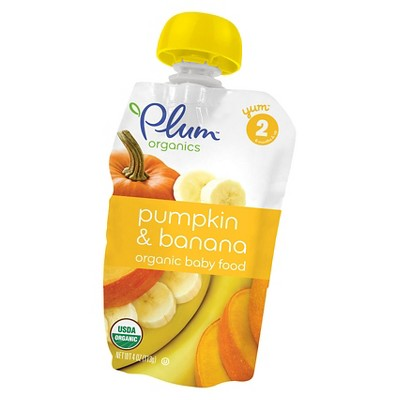 Plum Organics Stage 2 Pumpkin & Banana Baby Food - 4oz (6 pk)