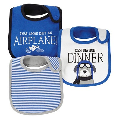 Just One You™ Made by Carter's® Baby Boys 3pk Quote Bib Set - Blue