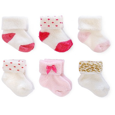 Just One You™ Made by Carter's® Baby Girls' 6pk Polka Dots Sock - Pink/White 0-3 M
