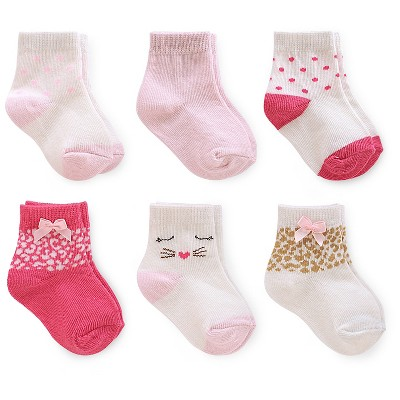Just One You™ Made by Carter's® Baby Girls' 6pk Polka Dots Sock - Multi-colored 3-12 M