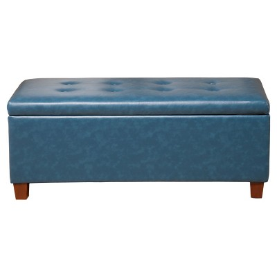 Homepop Large Faux Leather Storage Bench Homepop Target