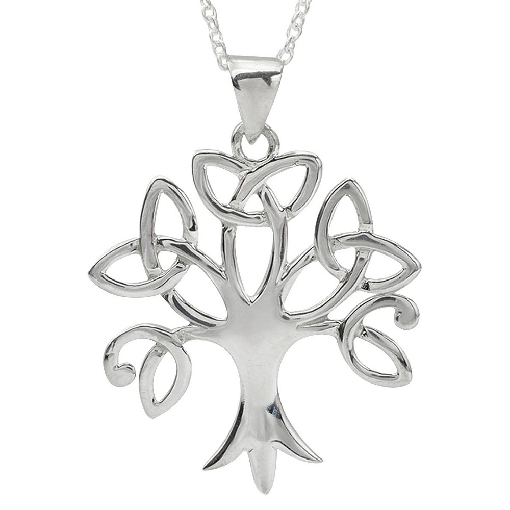 Womens Journee Collection Sterling Silver Tree Necklace