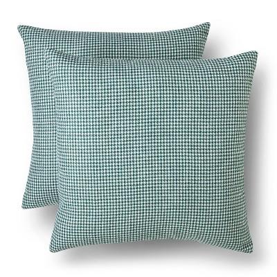 Prague Green/Sour Cream Houndstooth Throw Pillow Set 2 Pack (18 X18 )- Threshold™