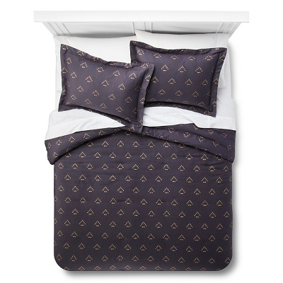 Dotted Triangle Comforter Set (Full/Queen)Blue 3pc - Nate Berkus™