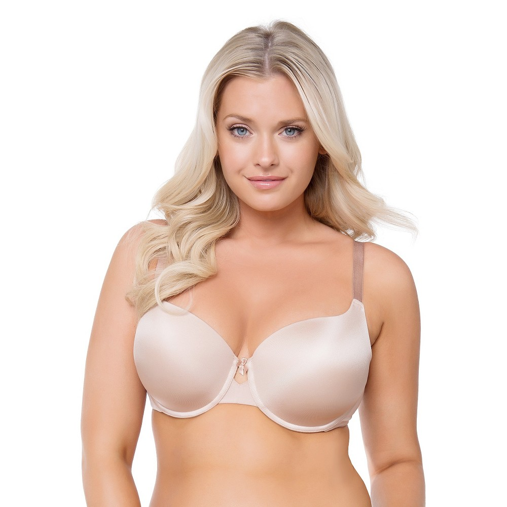Curvy Studio Women's Perfect Smooth T-Shirt Convertible Bra – Beige Nude 42G