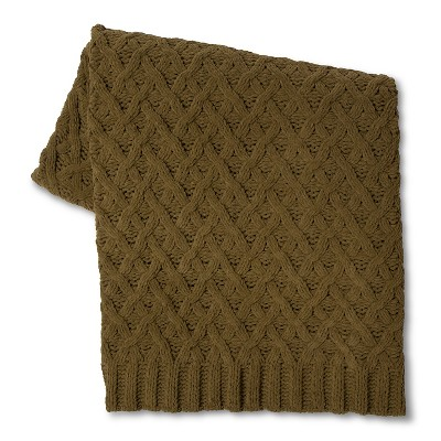 Chunky Chenille Throw Olive Green (50 X60 )- Threshold™